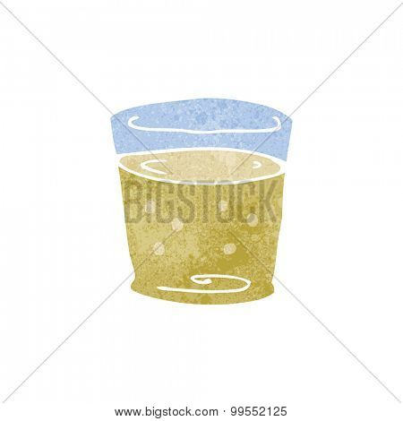 retro cartoon whiskey glass