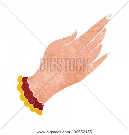 retro cartoon tattoo hand symbol