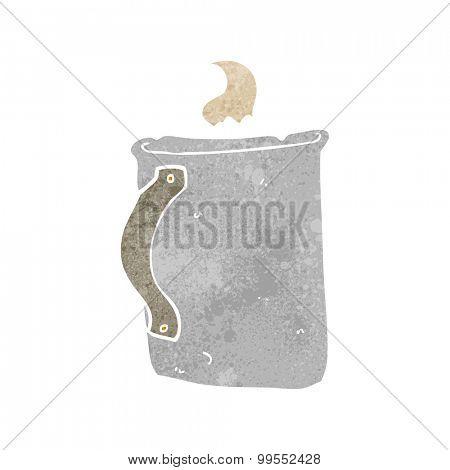 retro cartoon old tin coffee mug