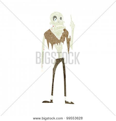 retro cartoon zombie
