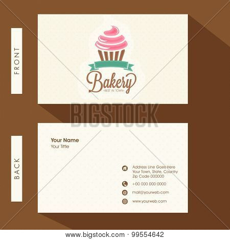 Creative business card or visiting card design for Bakery.