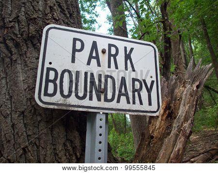 Park Boundary Sign