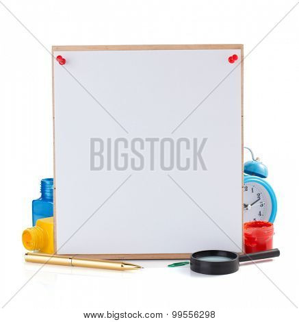 school supplies isolated on white background