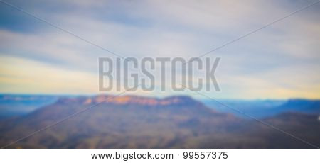 Abstract blur Mountain