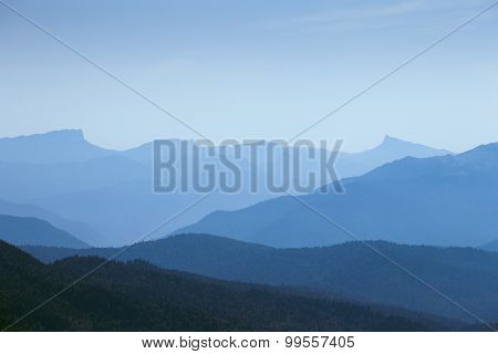 silhouette mountain under blue sky