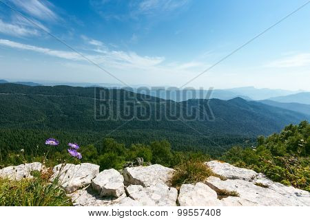mountain with snow under blue sky