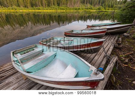 Boats on the lake,Canada