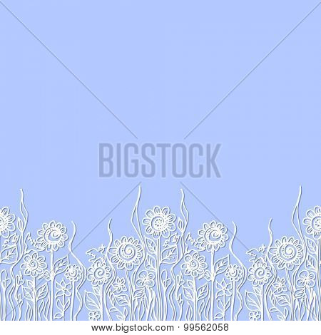 Seamless abstract hand-drawn pattern. Floral background. Vector illustration.