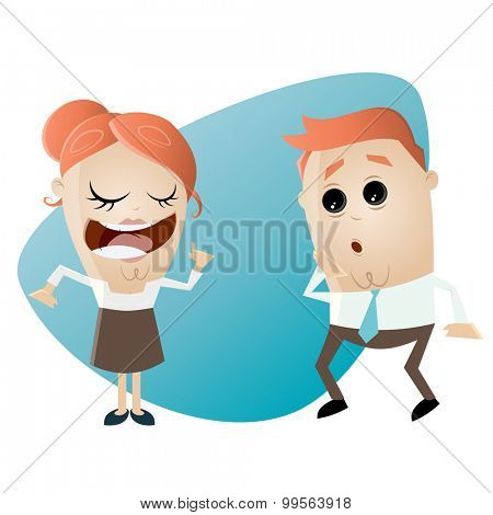 woman is explaining something to a man