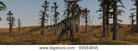 monolophosaurus in tempskya grove
