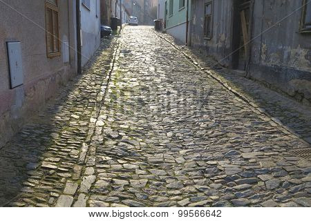 old cobbled street