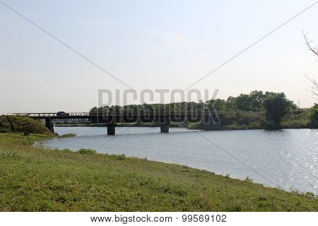 Bridge across river