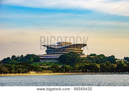 Futuristic Design Of Putrajaya International Convention Centre Located At Putrajaya, Malaysia