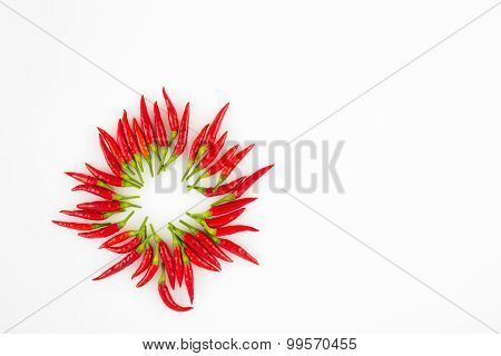 Red Chili Peppers In A Circle