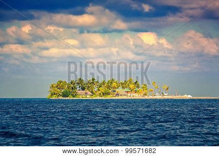 Beautiful island in the ocean, Maldives
