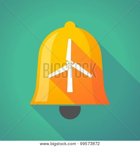 Bell Icon With A Wind Generator
