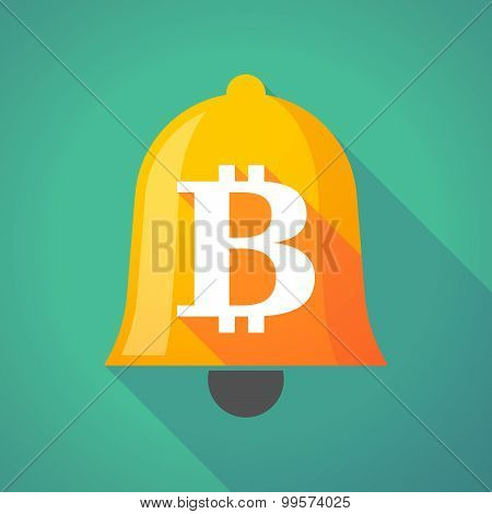 Bell Icon With A Bit Coin Sign