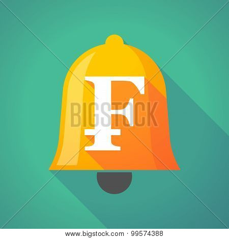 Bell Icon With A Swiss Franc Sign