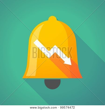 Bell Icon With A Graph