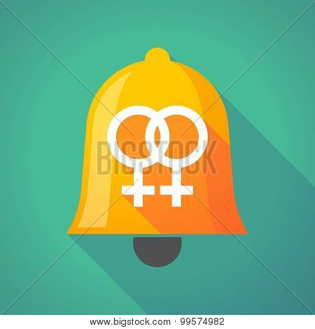 Bell Icon With A Lesbian Sign