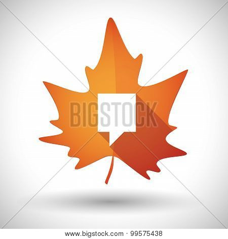 Autumn Leaf Icon With A Tooltip