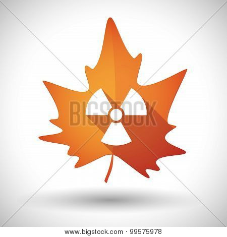 Autumn Leaf Icon With A Radio Activity Sign