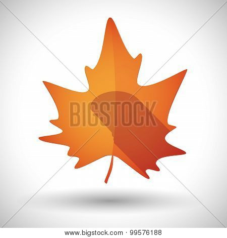 Autumn Leaf Icon With A Game Pad