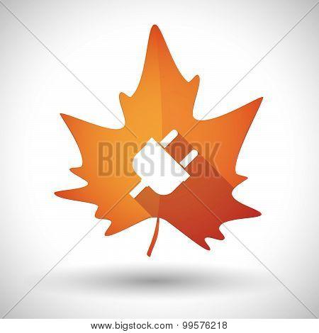 Autumn Leaf Icon With A Plug