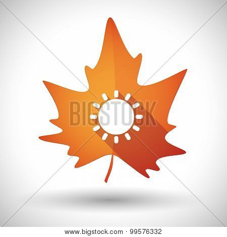 Autumn Leaf Icon With A Cursor