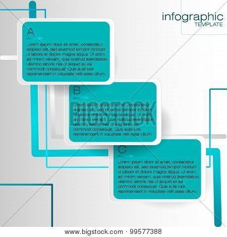 Infographic template with blue labels