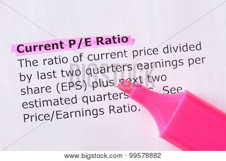 Current P/e Ratio