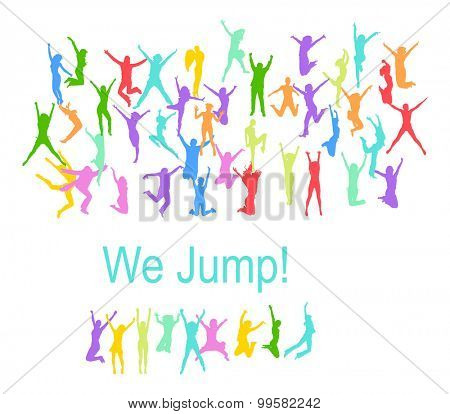 Victory is Ours People Jumping