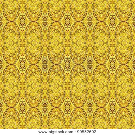 Seamless ellipses and diamond pattern gold