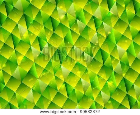 Abstract polygonal triangles tech background. Vector design