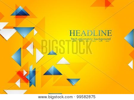 Bright abstract geometric background. Vector design