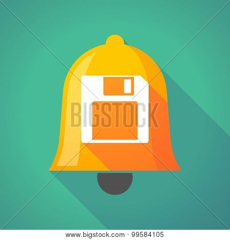 Bell Icon With A Floppy Disk