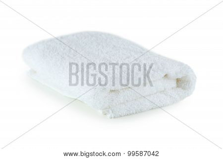 Towel isolated on a white, close up