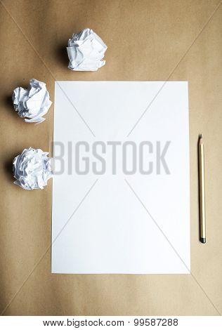 sheet of blank paper