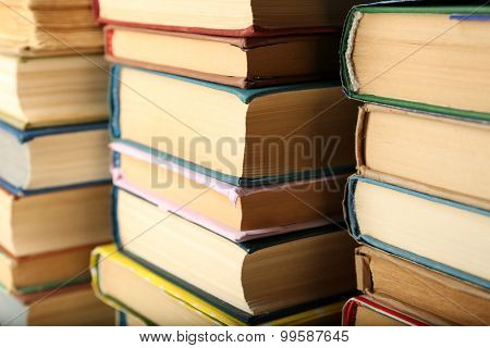 Stack of books background