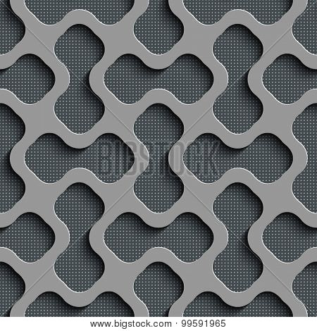 Seamless Geometric Pattern. Abstract Gray Background. Vector Regular Texture