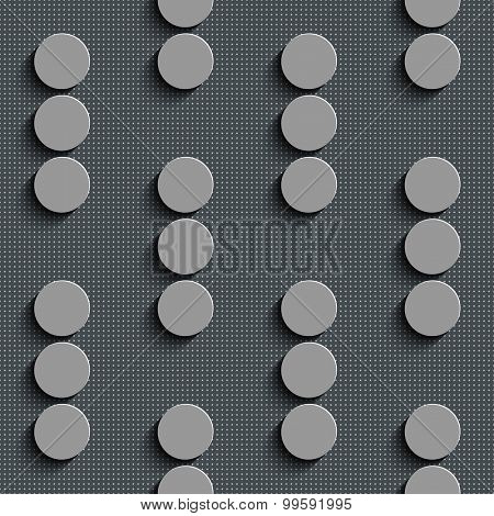 Seamless Circle Pattern. Vector Gray Regular Texture