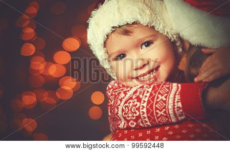 Christmas Magic Happy Family Mother And Child