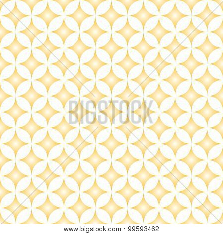 Beige & Cream Diamond Star Circle Pattern