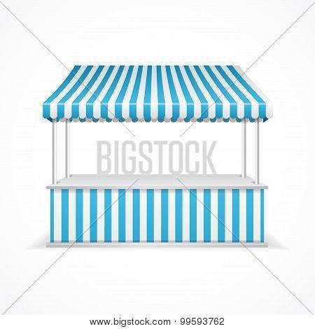 Market stall. Vector