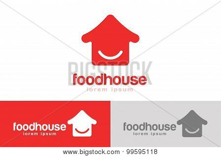 Chinese or japanese fast food restaurant silhouette. Chef logo. House icon template