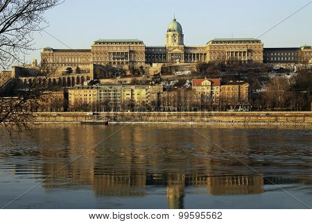 View On Buda Castle Of Budapest, Hungary