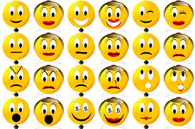 picture of emoticon  - Male and female business emoticons set  or collection isolated in white background - JPG