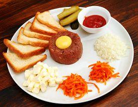 foto of tartar  - meat tartar - JPG