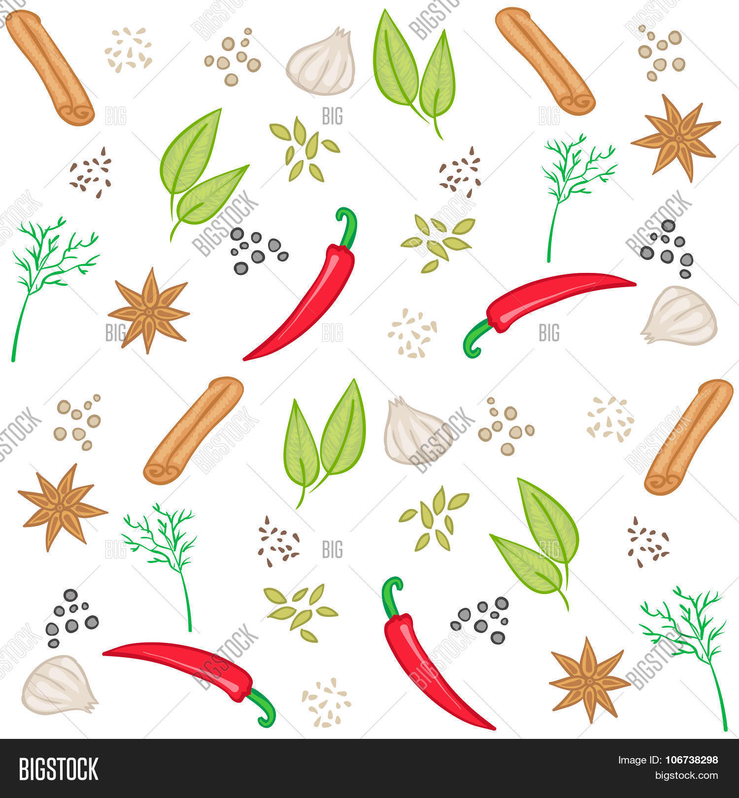 vector pattern with sp...