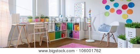 Multicolor designed playing room